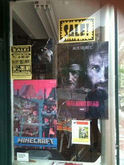 New England Comics window